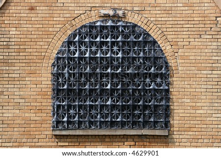 Strange Window Decoration - stock photo