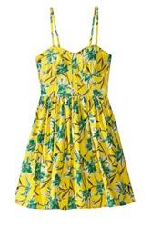 strapless flower pattern summer dress