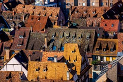 Strasbourg skyline of historical area in downtown, Strasbourg, Alsace, France. One of the famous city in France