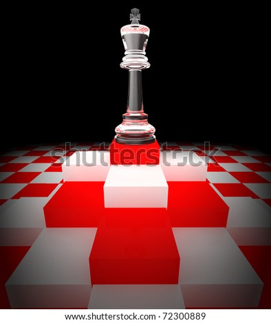 Strategic games; chess; one knight on chess board