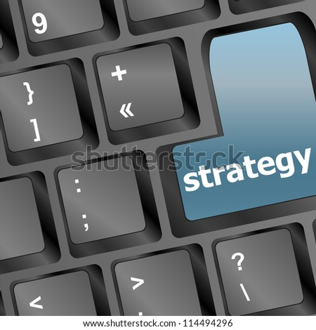 Strategy button on keyboard. raster