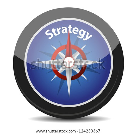 strategy compass concept illustration design over white background