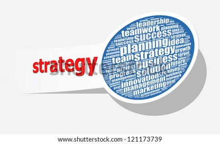 Strategy in word collage