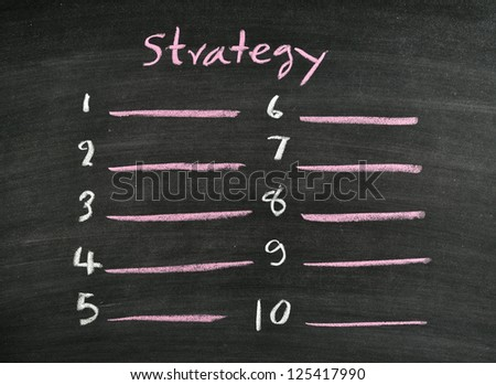 strategy listing on blackboard