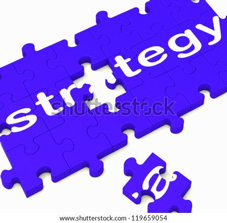 Strategy Sign Showing Business Solutions And Successful Ideas