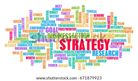 Strategy Word Cloud Concept on White