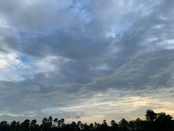 Stratocumulus clouds in the beautiful sky at Trang Province, Thailand.
