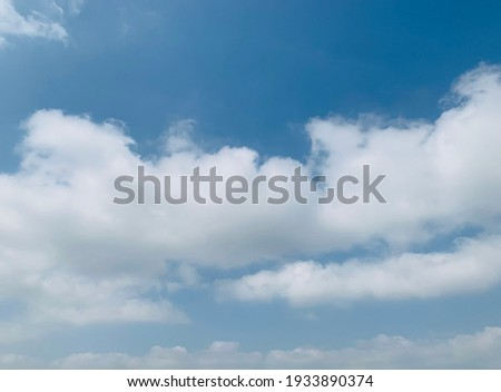 Stratocumulus clouds with blue sky background at Bangkok, Thailand. No focus