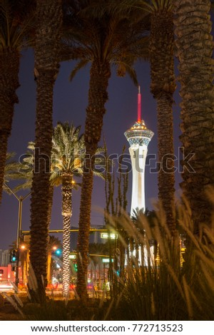 Stratosphere Hotel and Casino is located on the north end of Las Vegas Strip, United States of America