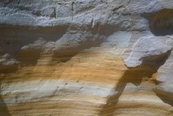 stratum of cliff in coastline of Donana