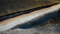 stratum of Earth crust in cross-section, abstract background