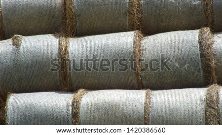 Straw bale, yelleow straw, roll straw #1420386560