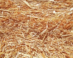 straw bales closeup, natural background