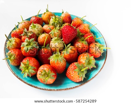 Straw berry flavors depending on the species, ranging from sweet to sour strawberry fruit is a major trade has grown a wide variety of weather around the world. #587254289