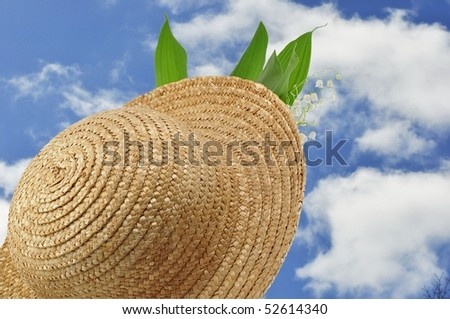 straw hat and blue sky