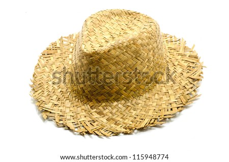 straw hat isolated on a white background