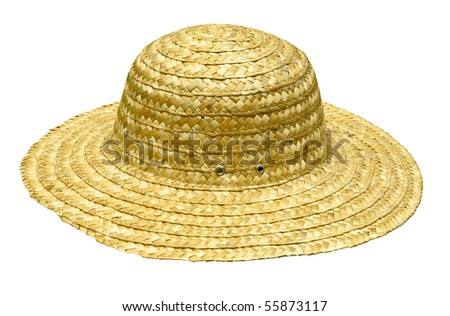straw hat isolated on white with clipping path at this size