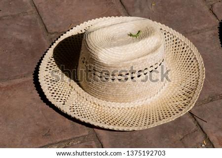 Straw hat, souvenirs, street vendor, Trinidad, Sancti Spiritus province, Cuba, Central America, America, Central America. Photo taken on 3rd of November, 2019