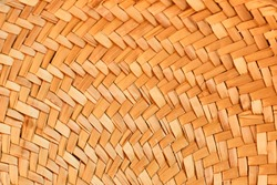 Straw hat texture close up