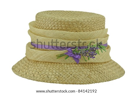 Straw Hat with Lavender decoration