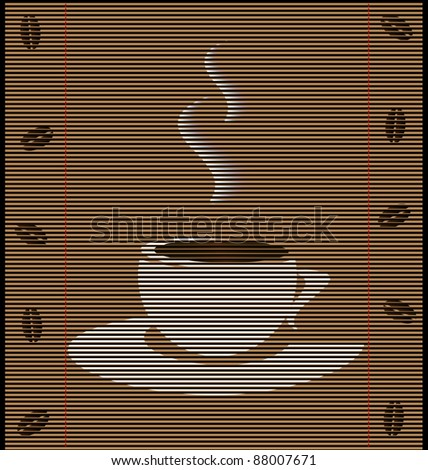 straw mat cup of coffee