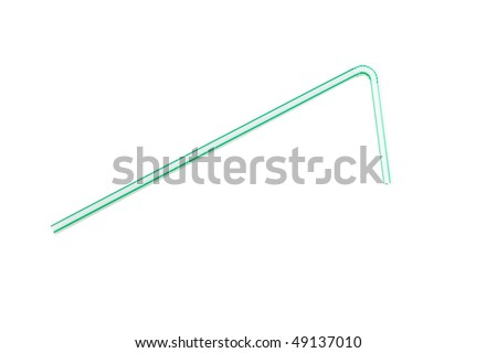 straw on white background