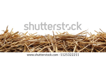 Straw pile isolated on white background and texture, clipping path #1125322211