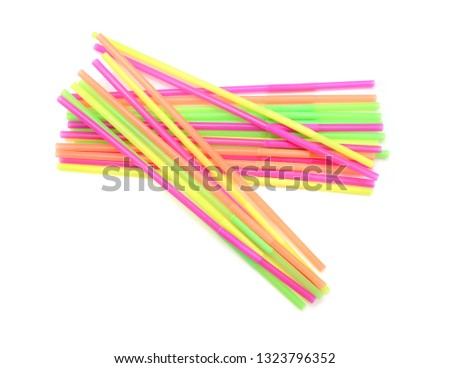 Straw plastic straw drink straw - Image  #1323796352