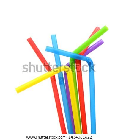 Straw plastic straw drink straw - Image  #1434061622