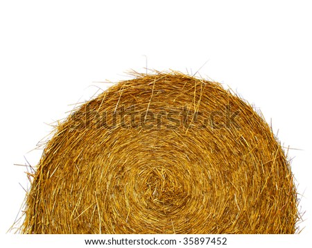 Straw roll - stock photo