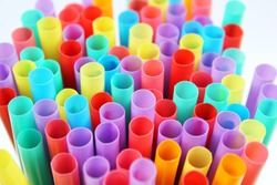 straw straws plastic drinking disposable background colourful  full screen single use stock, photo, photograph, picture, image,