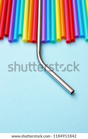 straw straws 'plastic free 'metal reusable plastic drinking background colourful  full screen