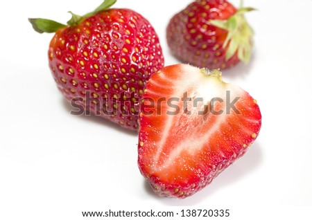 Strawberries close up with great colors