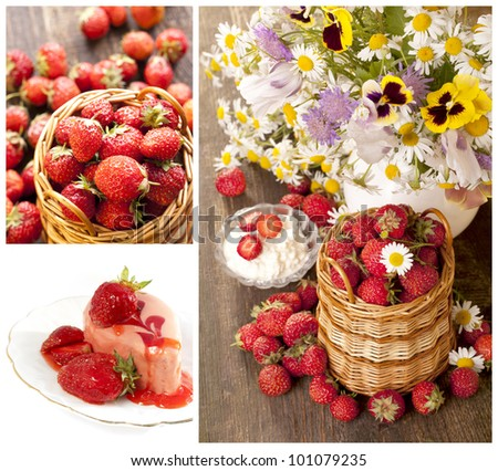 strawberries   collage