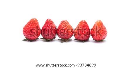 strawberries in white back ground