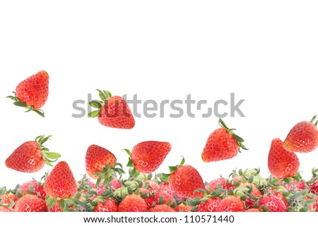Strawberries isolated on white backgroun