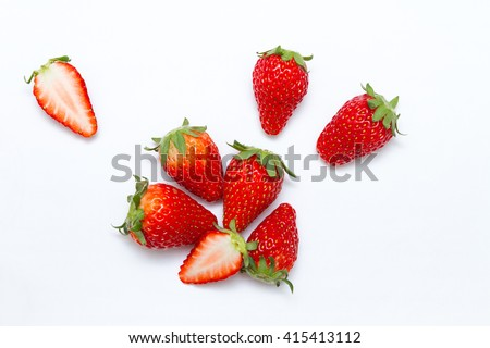 Strawberries isolated on white background #415413112