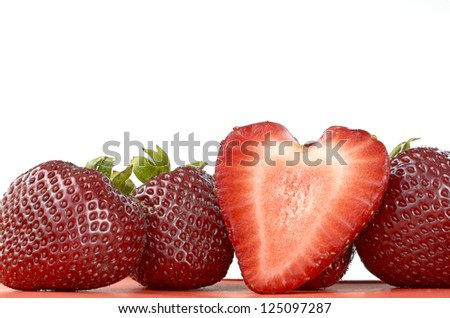 Strawberries With Heart Shape