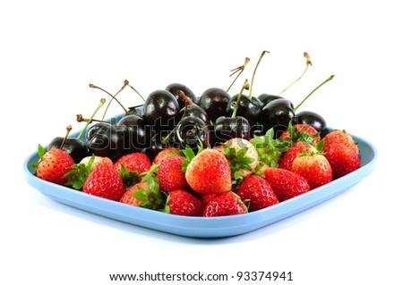 strawberry and cherry
