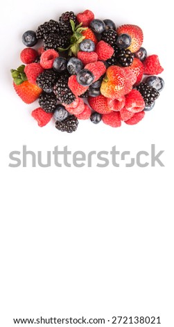 Strawberry, blackberry, blueberry and raspberry over white background #272138021