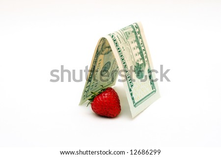 strawberry covered by dollar