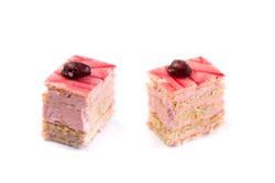 Strawberry cream Petit Four confectionary