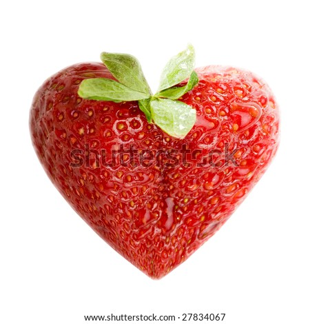 Strawberry illustrated as a heart