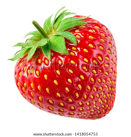 Strawberry isolate. Strawberry on white background. Clipping Path.