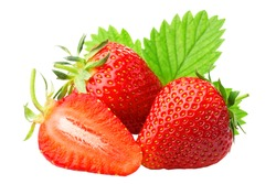 Strawberry isolated on the white background png