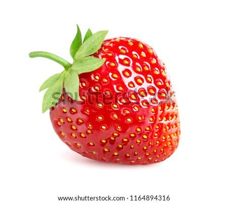 strawberry isolated on white background #1164894316