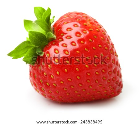 Shutterstock Strawberry isolated on white background