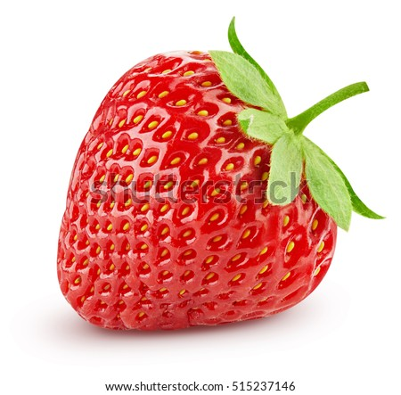 Shutterstock Strawberry isolated on white background. Clipping Path