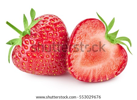Strawberry isolated on white background. Clipping Path #553029676