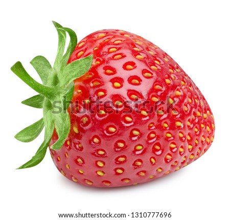 Strawberry isolated on white background. Strawberry Clipping Path. Professional studio macro shooting #1310777696